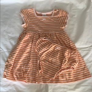 Baby GAP Striped Dress with Bottoms